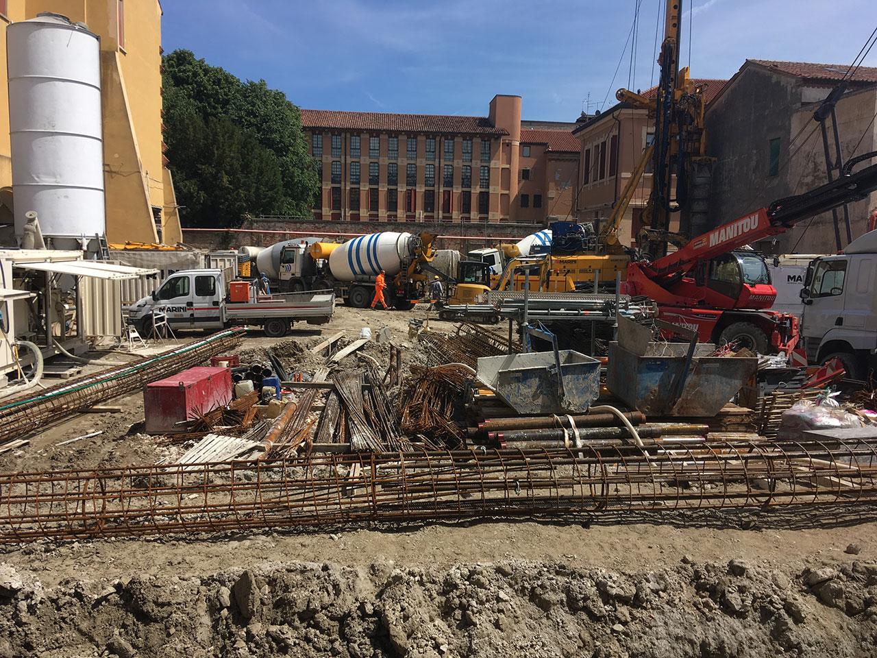 Project e construction management SIIS nella realizzazione di un parcheggio interrato di tre piani nella centralissima via degli Zabarella a Padova