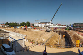 Il cantiere del nuovo Superstore a Vicenza