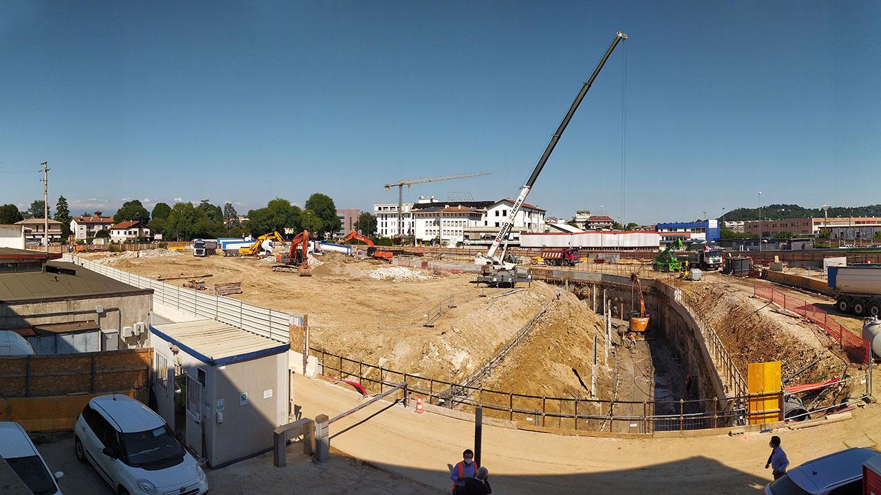 Il cantiere del nuovo Superstore a Vicenza prosegue secondo cronoprogramma - Direzione Generale dei Lavori SIIS